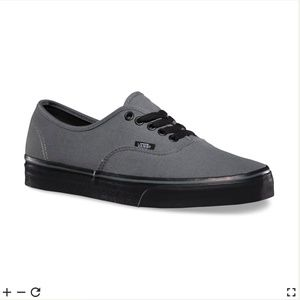 Vans BLACK SOLE AUTHENTIC Canvas Sneaker Size 5